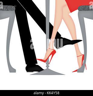 Frau beine uber kreuz flirt