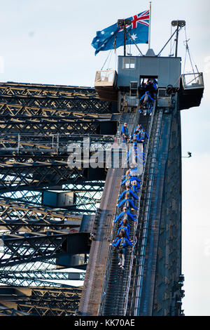 Bridge Climb Sydney, New South Wales, Australien. - Stockfoto
