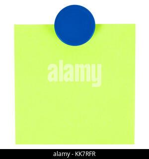 Kleber Hinweis und Magnet-Taste auf dem Whiteboard. - Stockfoto