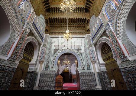 Heiligtum der zaouia Moulay Idriss ii in Fes el Bali alt Fes in der Hauptstadt Fez Marokko - Stockfoto