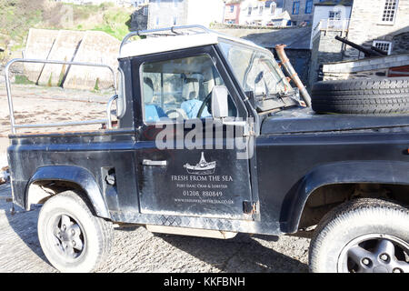 Tintagel in Cornwall, berühmt für die TV-Serie Doc Martin, die dort gedreht wird starring Martin Clunes - Stockfoto