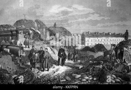 Im Fort de Nogent in der Nähe von Paris nach der Besetzung durch württembergische Truppen, Frankreich, deutsch-französischen - Stockfoto