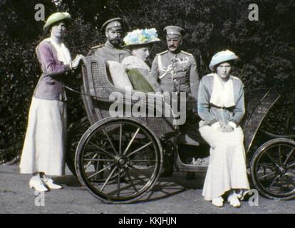 Undatiert: Die Familie von Zar Nikolaus II. Die Serie der einzigartige Bilder wurden von der Zar Nikolaus II. sich - Stockfoto