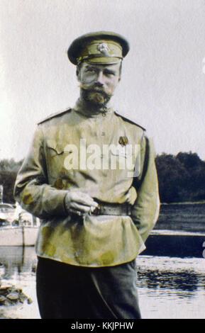 1915: Zar Nikolaus II. die Serie der einzigartige Bilder wurden von der Zar Nikolaus II. sich und die Leute, die - Stockfoto