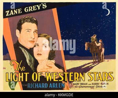 Poster - Licht der westlichen Sterne, Die (1930) 02. - Stockfoto