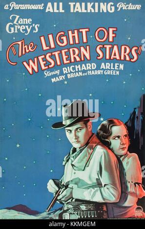 Poster - Licht der westlichen Sterne, Die (1930) 01. - Stockfoto