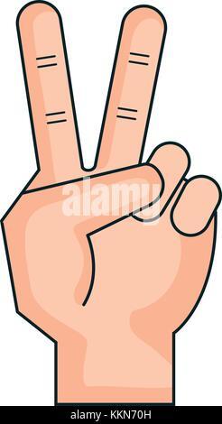 Hand zählen Schleppen auf den Fingern - Stockfoto