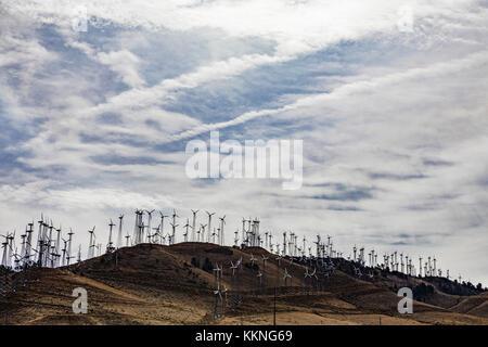 Wind Generatoren in Tehachapi Kalifornien - Stockfoto