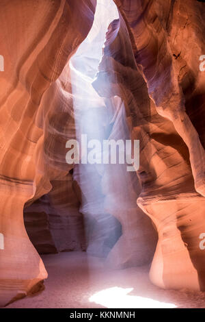 Sandsteinwände, Upper Antelope Canyon, Page, Arizona, USA - Stockfoto