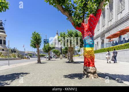 Street Art, Rathaus, Downtown, San Francisco, Kalifornien, USA - Stockfoto