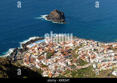 Blick auf Garachico, Teneriffa, Kanarische Inseln, Spanien - Stockfoto