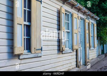 Niederlande, Sint Eustatius, Oranjestad, Gebäude, Detail - Stockfoto
