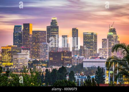 Skyline von downtown Los Angeles, Kalifornien, USA. - Stockfoto