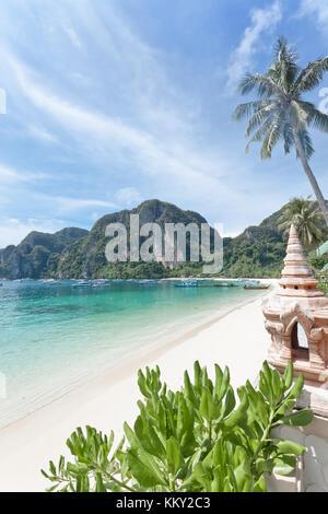 Thailand - Strand von Ko Phi Phi Don - Krabi - Asien - Stockfoto