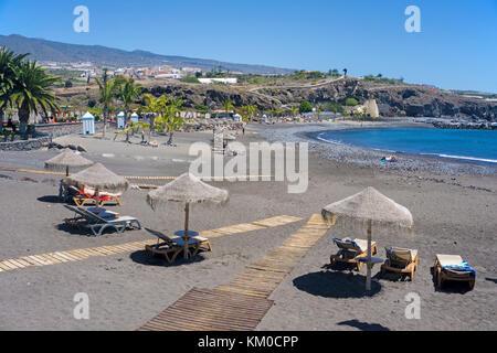 Playa San Juan, Strand an der Westküste der Insel, Teneriffa, Kanarische Inseln, Spanien - Stockfoto
