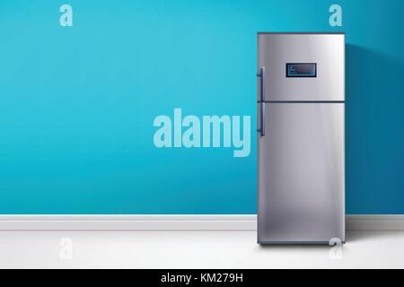 Retro Kühlschrank Blau : Kühlschrank flachbild design blau vektor icon vektor abbildung