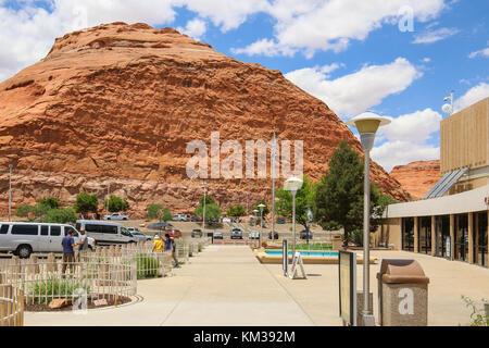 Carl hayden Visitor Center am Glen Canyon Dam - Stockfoto