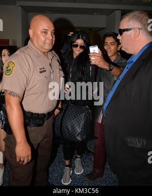 Miami Beach, FL - Juni 19: Kylie Jenner kommt an den internationalen Flughafen von Miami, die am 19. Juni 2015 in - Stockfoto