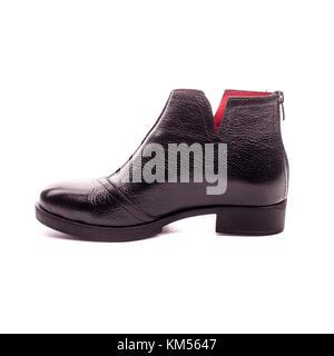 cde8287979fd Schwarze satin Mode Stiletto Heel Damen Modeschuhe · Schuhe der schwarzen  Frauen isoliert auf weißem Hintergrund. - Stockfoto