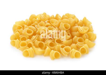 Pasta lumache auf weißem Hintergrund - Stockfoto