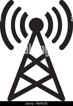 Sat-Antenne isolierte Symbol Vektor Abbildung - Bild: 161085434 - Alamy