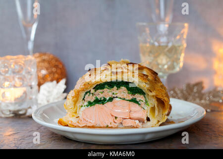 Lachs Wellington - Stockfoto