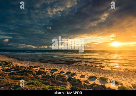 West Beach Adelaide Shores At Sunset, South Australia - Stockfoto