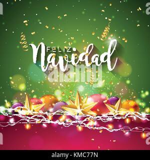 Weihnachten abbildung mit spanisch feliz navidad - Baum auf spanisch ...