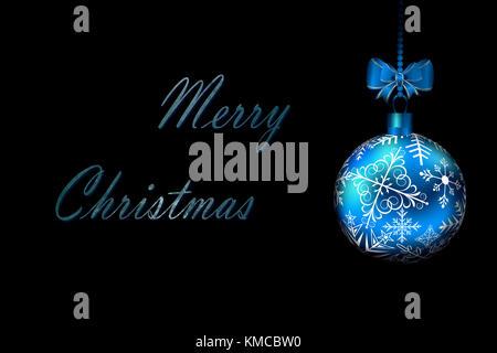 Christmas Ball in High Definition auf schwarzem Hintergrund - Stockfoto