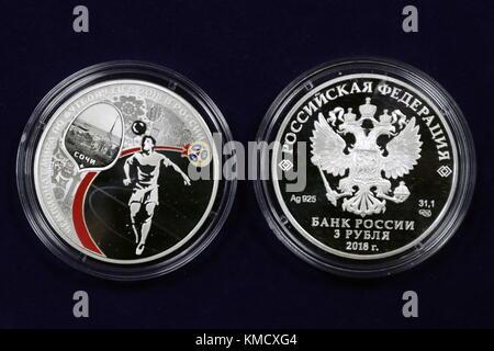 Moskau Russland 6 Dez 2017 Münzen Zur Fifa Wm 2018 Gewidmet