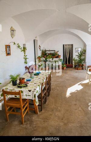 Artisan Käse Hersteller Haus. Binicano Eigenschaft. Ciutadella de Menorca Gemeinde. Insel Menorca. Balearen. Spanien - Stockfoto