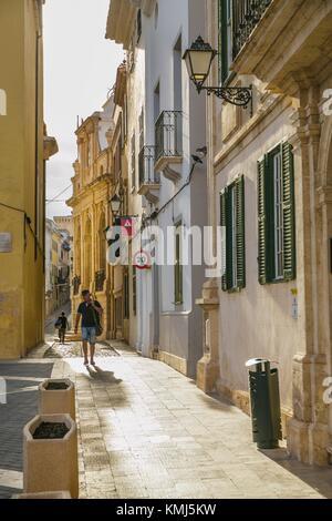 Mahón Stadt. Maó Gemeinde. Menorca Insel. Balearen. Spanien - Stockfoto