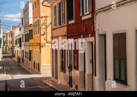 Mahón Stadt. Maó Gemeinde. Insel Menorca. Balearen. Spanien - Stockfoto