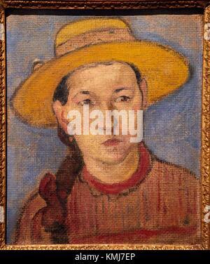 Jeune Créole, 1891, Paul Gauguin, Musée d'Art Moderne, Troyes, Region Champagne-Ardenne, Aube, Frankreich, Europa - Stockfoto