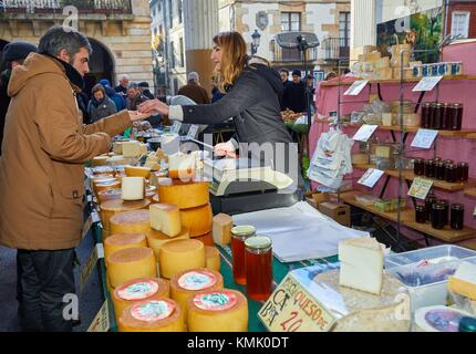 Käse, ordizia Markt, Weihnachtsmarkt, Ordizia, Gipuzkoa, Baskenland, Spanien, Europa - Stockfoto