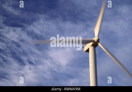 Detail von Windmühlen im Stateline Wind Projekt, Walla Walla County, Washington, USA - Stockfoto