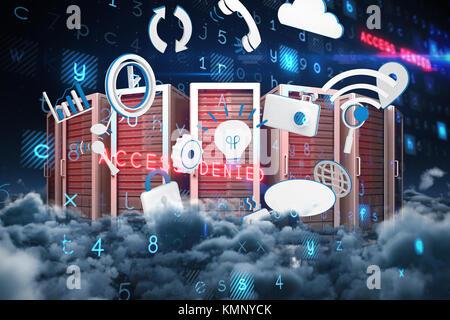 Virus Hintergrund malerischen Blick auf Wolkengebilde nachts - Stockfoto