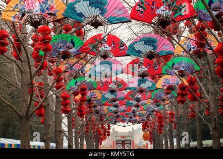 Papier-Fans Glück rote Laternen chinesischen Lunar neue Jahr ...