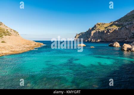 Cala Figuera, Cap de Formentor, Mallorca, Balearen, Spanien - Stockfoto