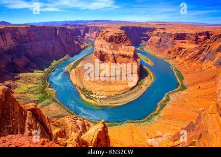Arizona Horseshoe Bend Mäander des Colorado River im Glen Canyon. - Stockfoto