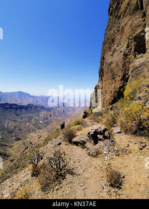 Roque Bentayga (bentayga Rock) auf Gran Canaria, Kanarische Inseln, Spanien. - Stockfoto