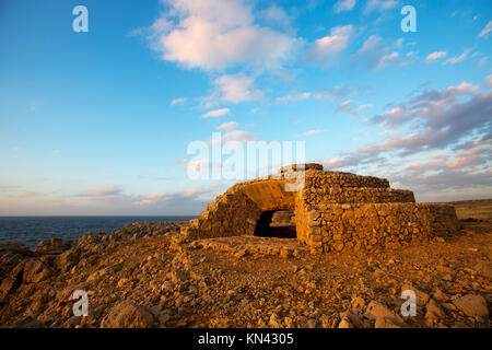 Menorca Punta Nati in Ciutadella, Balearen, Spanien. - Stockfoto