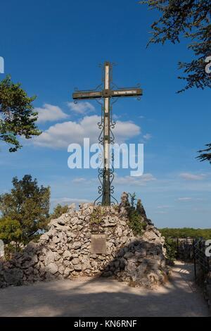 Kreuz in Rocamadour, Lot, Midi-Pyrénées, Frankreich. - Stockfoto