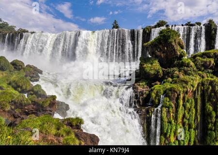 San Andres in Iguazu Wasserfälle, eines der neuen Sieben Weltwunder der Natur, Argentinien. - Stockfoto