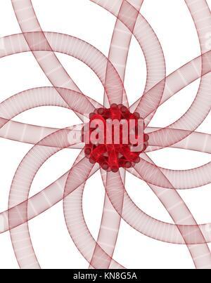 Computer gerenderte Abstrakt fractal Abbildung Hintergrund für kreative Gestaltung. - Stockfoto