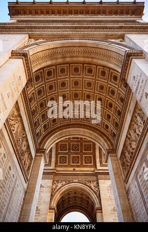 Arc de Triomphe in Paris Triumphbogen in Frankreich. - Stockfoto