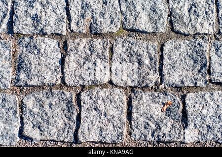 Nahaufnahme von abstrakten Hintergrund Textur der Pflasterstein. - Stockfoto