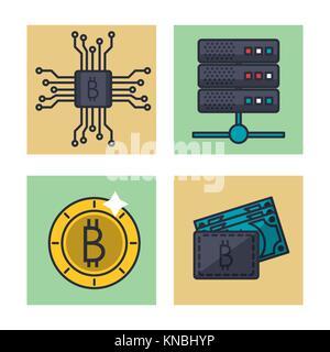 Fintech Symbole gesetzt - Stockfoto