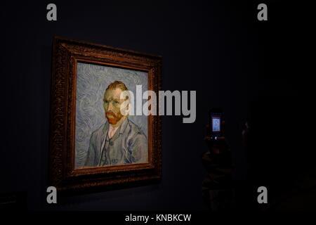 Autorretrato, Vincent van Gogh, oleo sobre Tela, 1889, Musée d'Orsay, Paris, Frankreich in Westeuropa. - Stockfoto