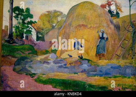 Les meules Jaunes ,1889 - Paul Gauguin, Musée d'Orsay, Paris, Frankreich in Westeuropa. - Stockfoto